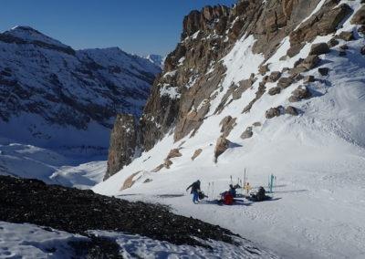 Raid ski - Col de Stroppia - Repos, répit, repas