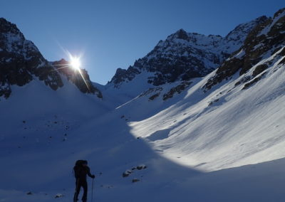 Raid ski - Col de Stroppia - 1,2,3 soleil!