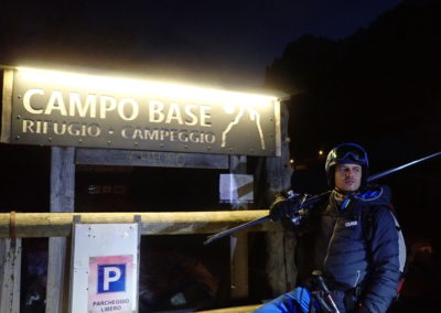 Raid ski - Col de Stroppia - Petite arrivée nocturne à campo Base
