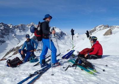 Raid ski - Eighier - Au sommet