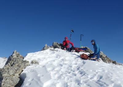Raid ski - Montée Vigna - Au sommet