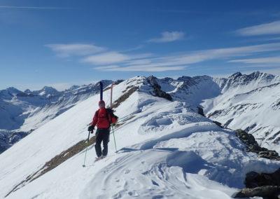 Raid ski - Monté Vigna - Ugo arrive