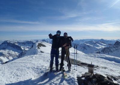 Raid ski - Tête de Malacoste - Vinc' au sommet