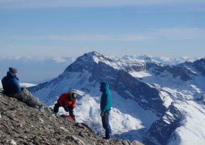 Raid ski - Tête de Malacoste - P'tite pause avant la folle descente!