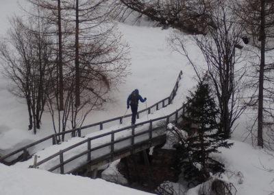 Raid ski - Couloir Eyssilloun - Fouillooz Bridge