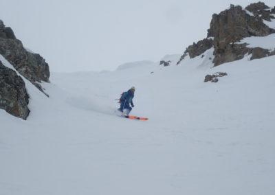 Raid ski - Couloir Eyssilloun - Bibi