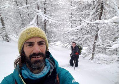 Ski randonnée Freissinières - Ambiance popow