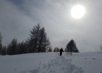 Ski randonnée Freissinières - Au dessus des nuages il fait beau