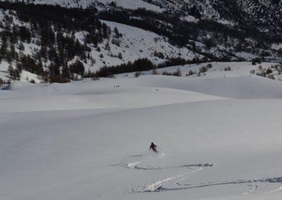 Tête des Raisins - Ski rando - Première descente sur la croupe