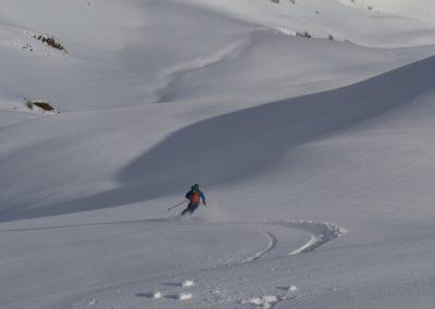 Tête des Raisins - Ski rando - Vallon de Testa Moute, vierge de traces