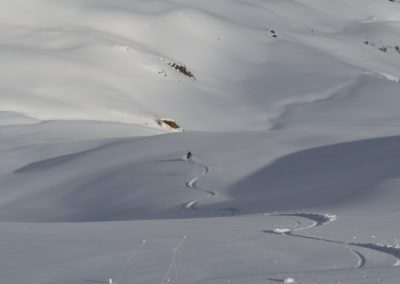 Tête des Raisins - Ski rando - Vallon de Testa Moute, tracé!